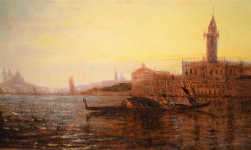 """""""Sunset in Venice on the Lagoon"""" P.G. Lepinay (1842-1885) -"""