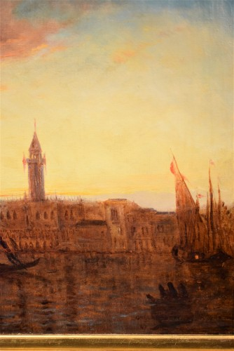 """- """"Sunset in Venice on the Lagoon"""" P.G. Lepinay (1842-1885)"""