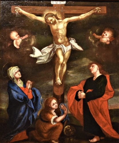 The Crucifixion of Christ - Flemish school of the 16th century