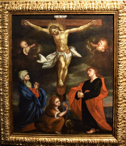 The Crucifixion of Christ - Flemish school of the 16th century - Paintings & Drawings Style Renaissance