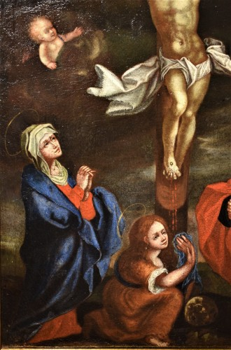 Paintings & Drawings  - The Crucifixion of Christ - Flemish school of the 16th century