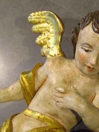 Couple d'Anges Baroques, sud de l'Allemagne XVIIème siècle -