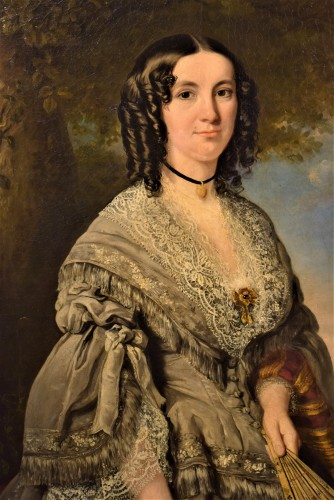 """Portrait de la Princesse Kotschoubey"" - Paintings & Drawings Style Restauration - Charles X"