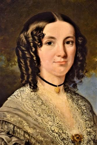 """Restauration - Charles X - """"Portrait de la Princesse Kotschoubey"""""""