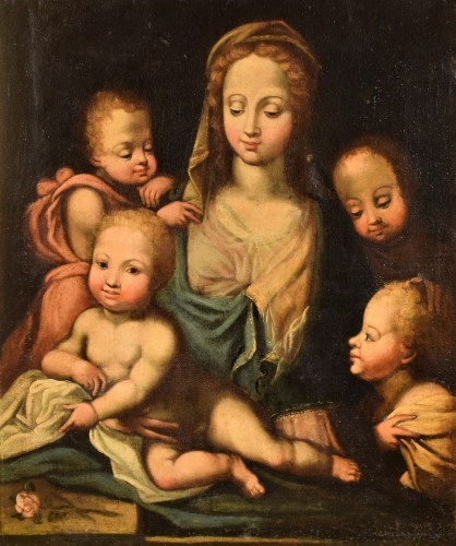 Madonna with Child and Angels (The Charity) Italian Renaissance - Paintings & Drawings Style Renaissance