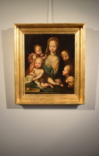 Antiquités - Madonna with Child and Angels (The Charity) Italian Renaissance