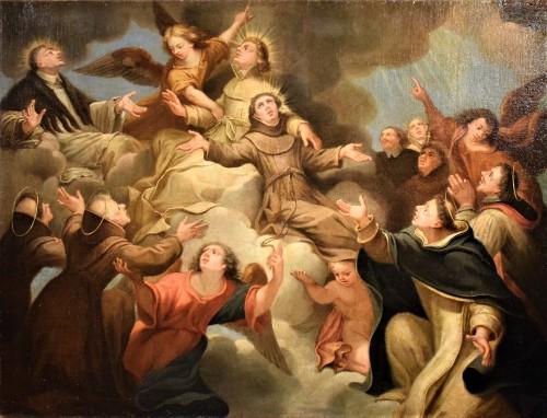 Paintings & Drawings  - Saints in Glory - Roman school of 17th century