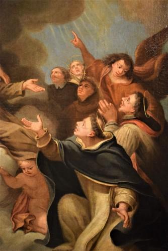 Saints in Glory - Roman school of 17th century -