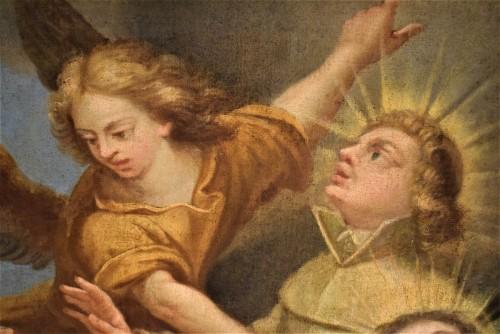 Antiquités - Saints in Glory - Roman school of 17th century