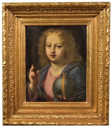 """The """"Salvator Mundi"""" of Carlo Maratta, Italy 17th century"""