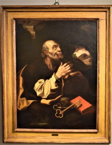 """Saint Peter""  atelier de Hendrick Goltzius  - Paintings & Drawings Style Louis XIII"