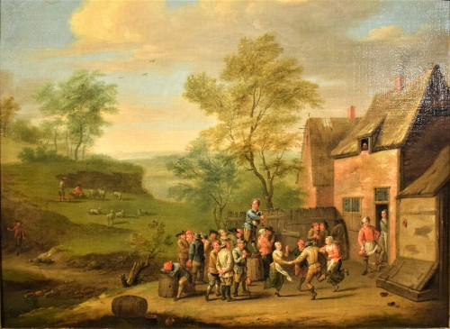 Party in the Village - Paintings & Drawings Style Louis XIV