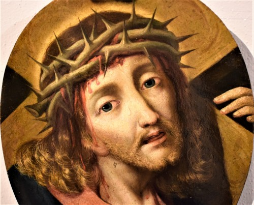 """Michael Coxie (Malines 1499-1592) """"Face of Christ"""" -"""