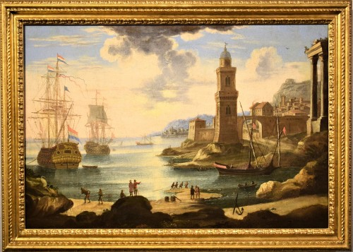 """Port Scene"" Horace Grevenbroeck (Paris 1670-1743) workshop"