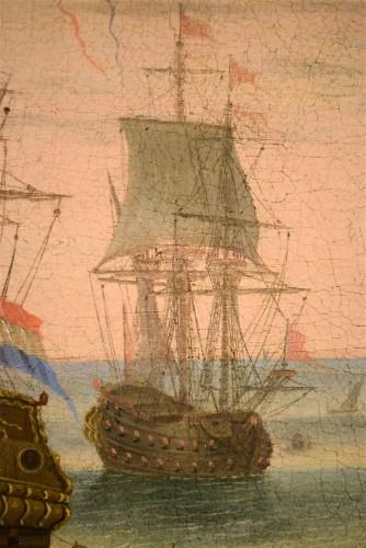 """18th century - """"Port Scene"""" Horace Grevenbroeck (Paris 1670-1743) workshop"""