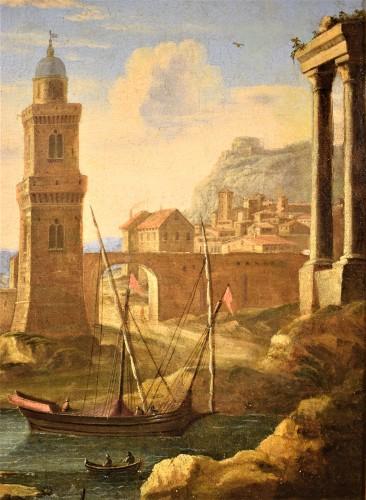 """""""Port Scene"""" Horace Grevenbroeck (Paris 1670-1743) workshop - Louis XIV"""