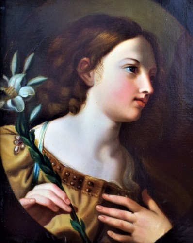 """Announcing Ange""l Italian school, 17th century"