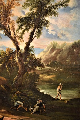 Pair of italian landscapes dated 1709  - Antonio Francesco Peruzzini (1643 - 1724) -