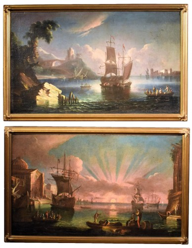 Pair of Marines painting  - Paolo Maria Antoniani (1745 -1807)