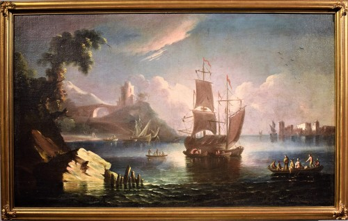 Pair of Marines painting  - Paolo Maria Antoniani (1745 -1807) - Paintings & Drawings Style Louis XVI