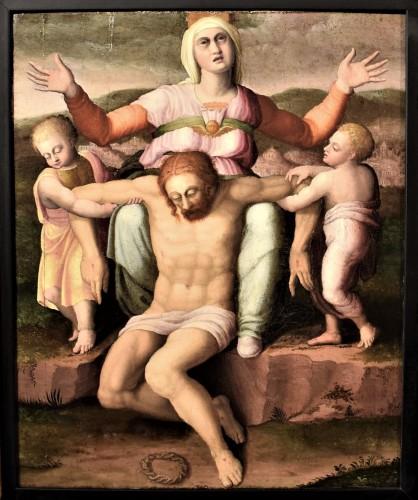"""""""La Pietà"""" ècole Romaine du XVIème par Michelangelo Buonarroti"""