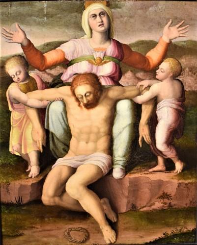 """Paintings & Drawings  - """"La Pietà"""" ècole Romaine du XVIème par Michelangelo Buonarroti"""