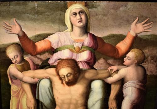 <= 16th century - &quot;La Pietà&quot; ècole Romaine du XVIème par Michelangelo Buonarroti