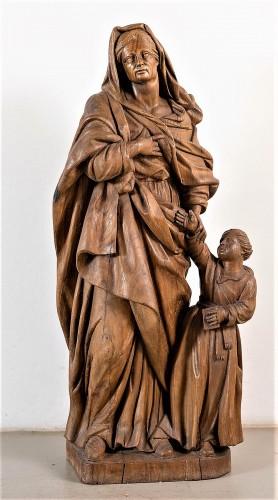 Saint Anne and the Virgin Child - Sculpture Style Louis XIV