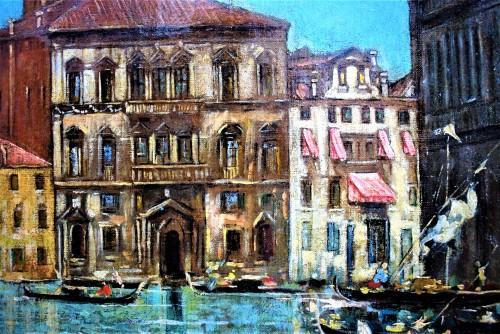 """Antiquités - Venezia, """"Il Canal Grande"""" - Lucia Ponga degli Ancillo (1887-1966)"""