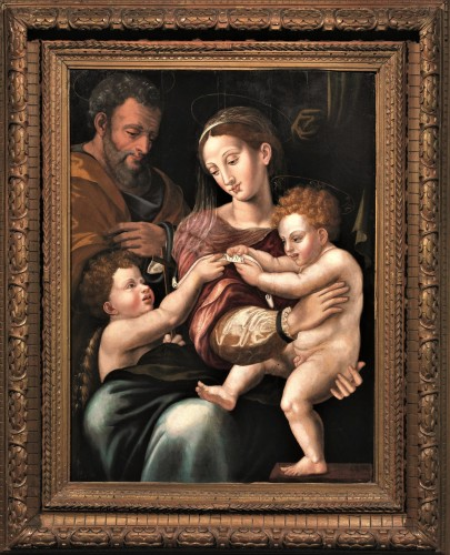 Holy Family and St. John Baptist, Florence 1530.