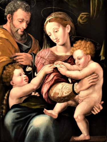 Holy Family and St. John Baptist, Florence 1530.  - Paintings & Drawings Style Renaissance