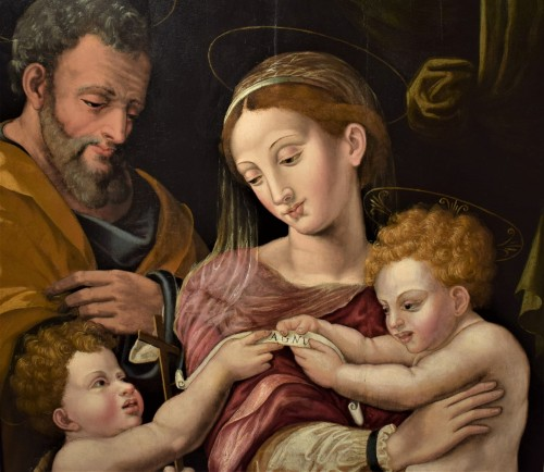 Paintings & Drawings  - Holy Family and St. John Baptist, Florence 1530.