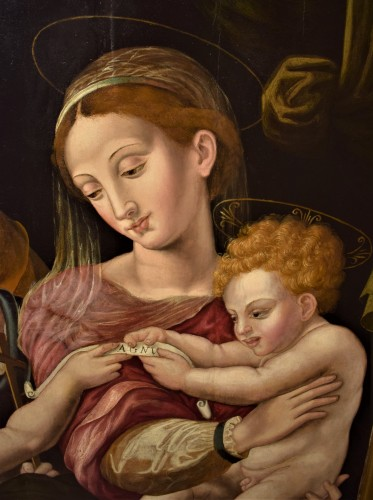 Holy Family and St. John Baptist, Florence 1530.  -