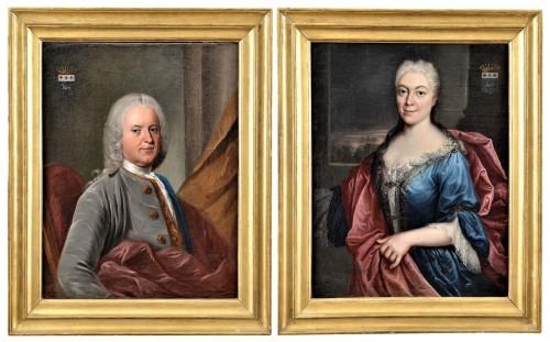 Pair de Portraits, Workshop of Nicolas de Largillière 17th century