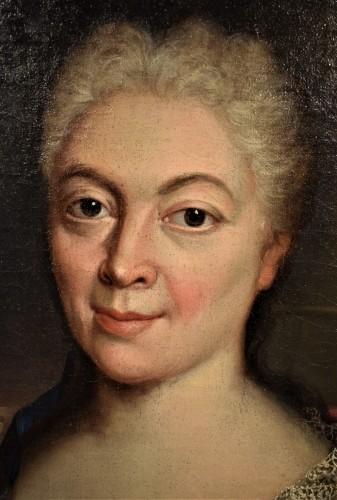 Antiquités - Pair de Portraits, Workshop of Nicolas de Largillière 17th century