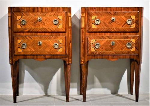 Two Commode Louis XVI - Italy 18th century - Furniture Style Louis XVI