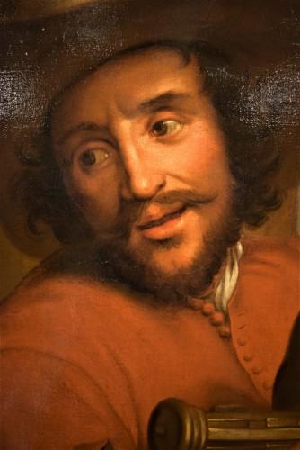Portrait of François Langlois,  Flamish school 17th century -