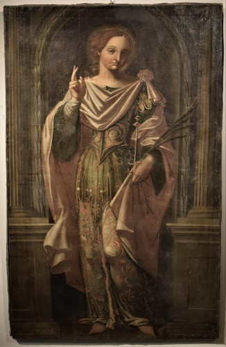 """Saint Lucia"" Venetian school of Paolo Caliari  - Paintings & Drawings Style Renaissance"