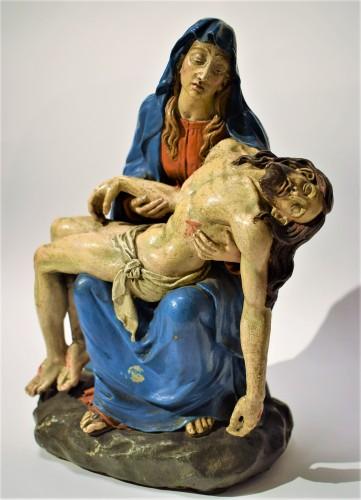 Sculpture  - Pietà polychromed terracotta, Italy Bologna circa 1750