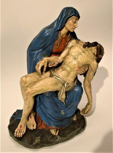 Pietà polychromed terracotta, Italy Bologna circa 1750 -