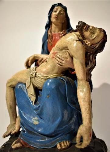 Pietà polychromed terracotta, Italy Bologna circa 1750 - Louis XV
