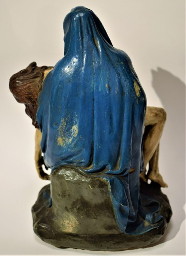 Louis XV - Pietà polychromed terracotta, Italy Bologna circa 1750