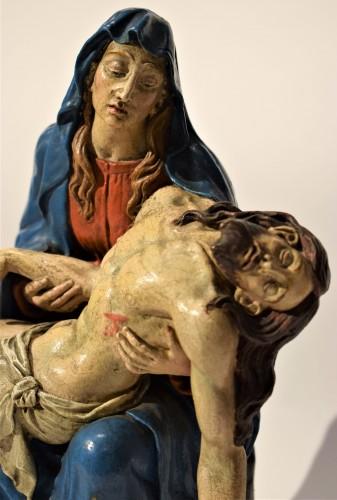 Antiquités - Pietà polychromed terracotta, Italy Bologna circa 1750