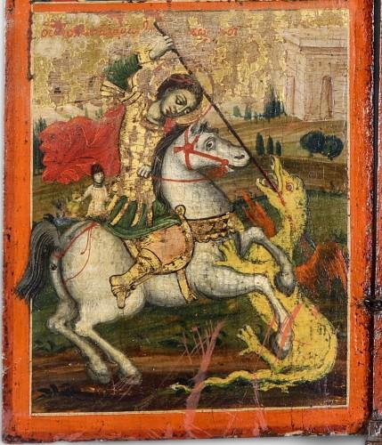 "Greek Triptych depicting the ""Deesis"" 17th century  - Louis XIII"