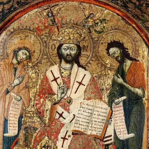 "Louis XIII - Greek Triptych depicting the ""Deesis"" 17th century"