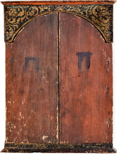 "Antiquités - Greek Triptych depicting the ""Deesis"" 17th century"