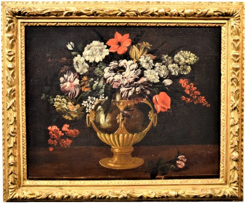 Still Life of Flowers - Italian school of the 17th century