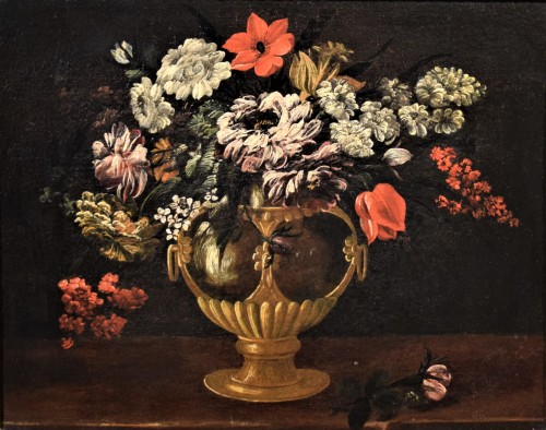 Still Life of Flowers - Italian school of the 17th century - Paintings & Drawings Style