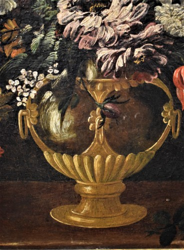 17th century - Still Life of Flowers - Italian school of the 17th century