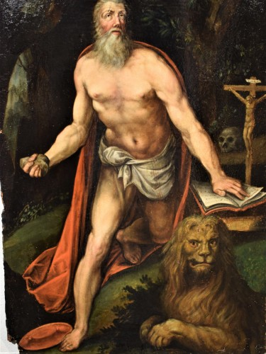 Saint Jerome - Italian school of the 16th century - Paintings & Drawings Style Renaissance